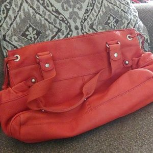 Fossil handbag - Lacey (leather) in tomato
